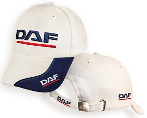 e1f7273b93623 DAF White Beige Baseball Cap 3D Embroidered Auto Car Logo Hat Mens ...