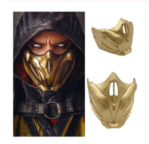 Game Mortal Kombat 11 Cosplay Masks Scorpion Resin Half Face Mask