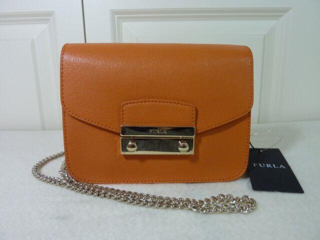 009bf7d88bff FURLA Mandarin Orange Saffiano Leather Julia Mini Crossbody Bag - NEW WITH  TAG