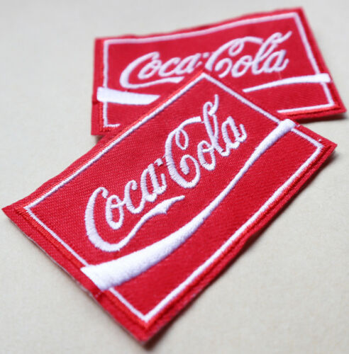 1 x COCA COLA COKE Embroidered Iron on Adhesive Patch Collectibles JACKET JEANS