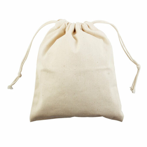 Home Travel Protable Sundries Storage Candies Gift Pouch Drawstring Bag Beige