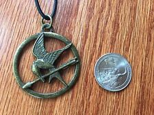 The hunger games mockingjay pendant on leather cord necklace ebay item 1 lionsgate lgf the hunger games mockingjay pendant necklace on black leather cord lionsgate lgf the hunger games mockingjay pendant necklace on black aloadofball Images