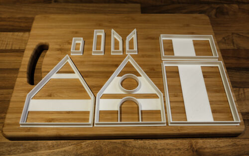 Halloween Cookie Cutters to build a Halloween Gingerbread House