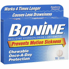 Bonine Motion Sickness Protection Chewable Tablets  16 tablets nausea