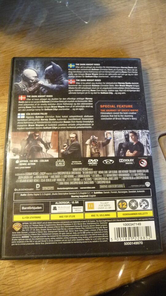 The dark knight rises, DVD, action