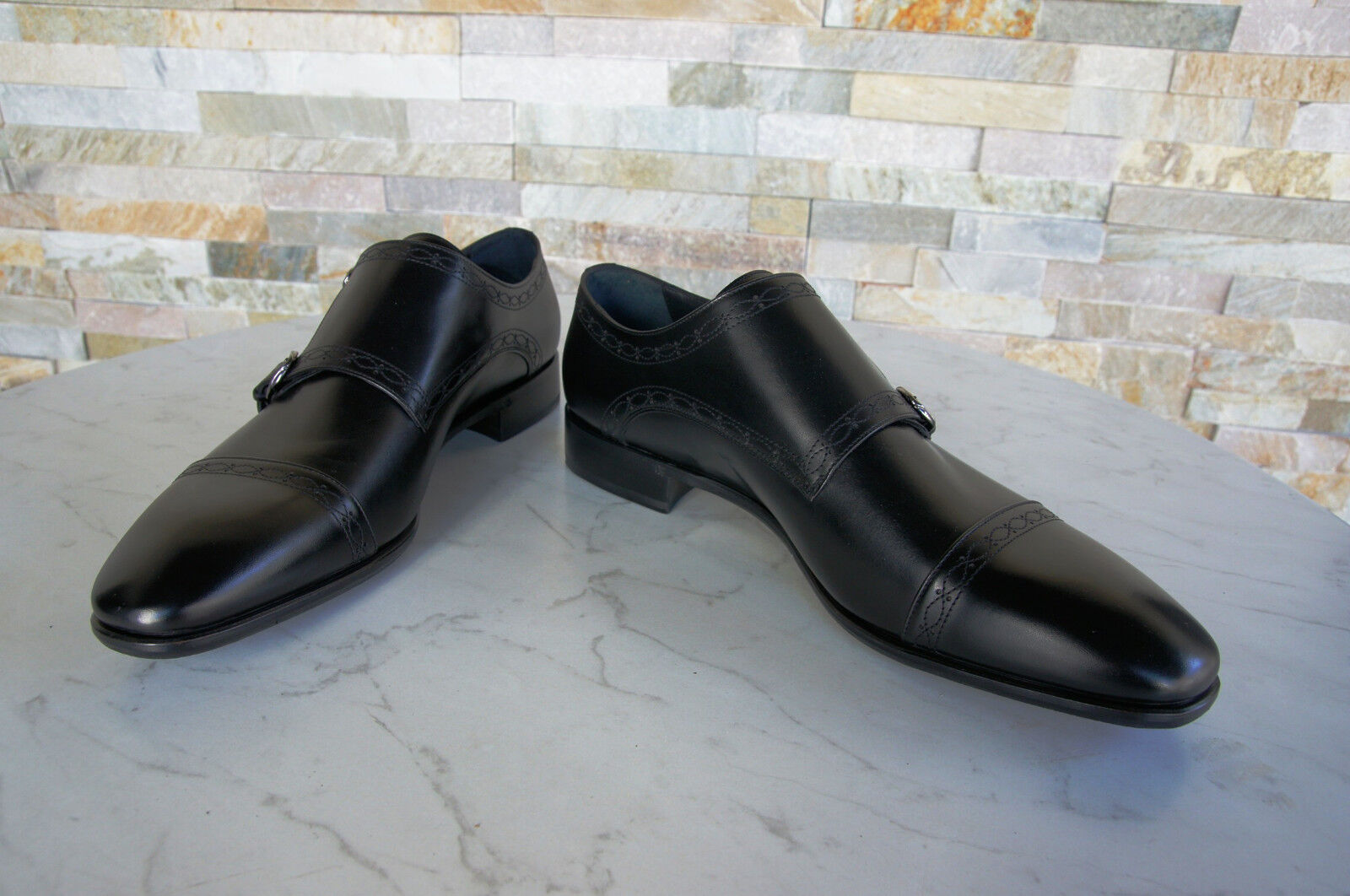 Roberto Cavalli TAGLIA 41,5 Slipper Slipper Slipper Business Scarpe Basse Scarpe nero NUOVO UVP b98107
