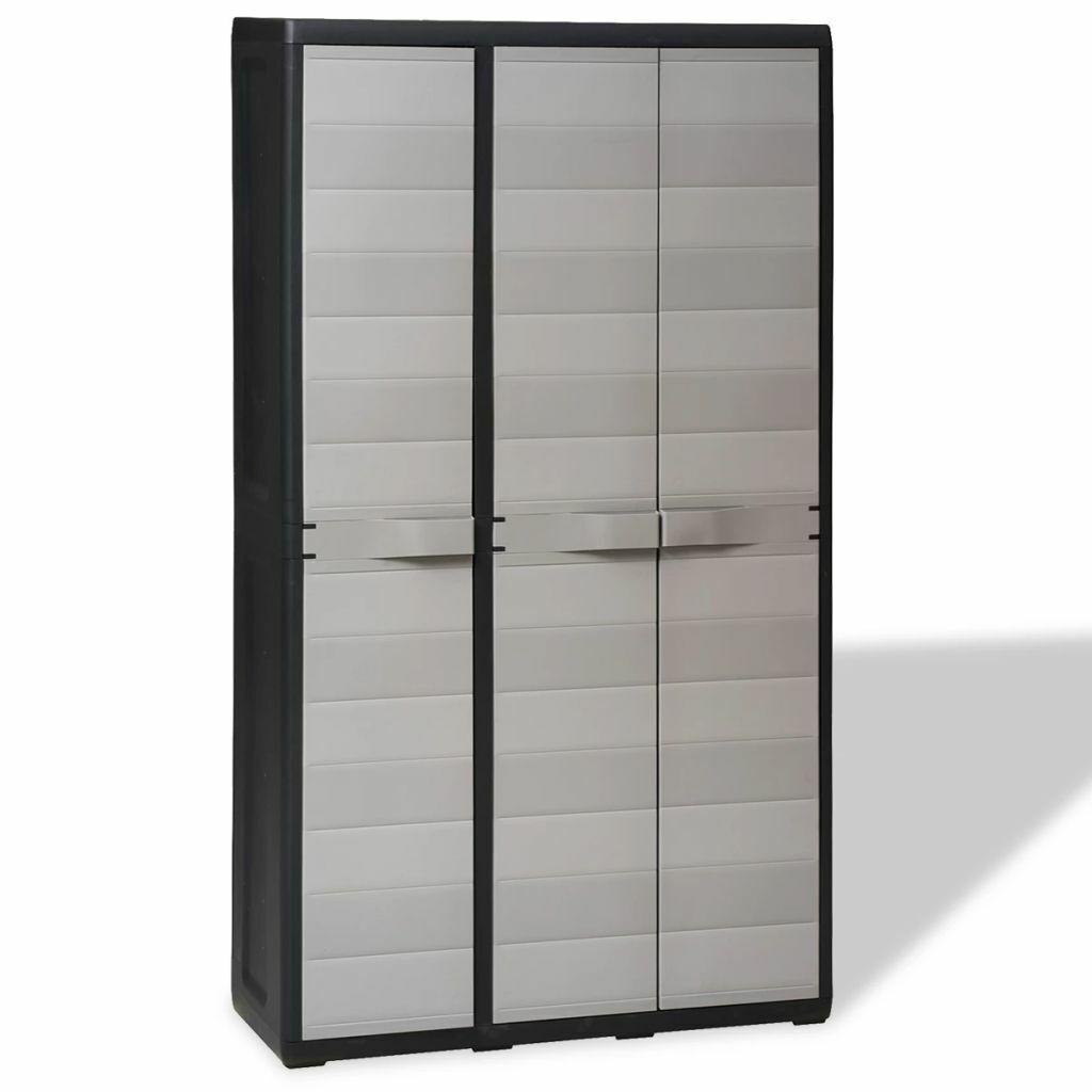 Double Doors Plastic Storage Cabinet Garden Yard Storage She