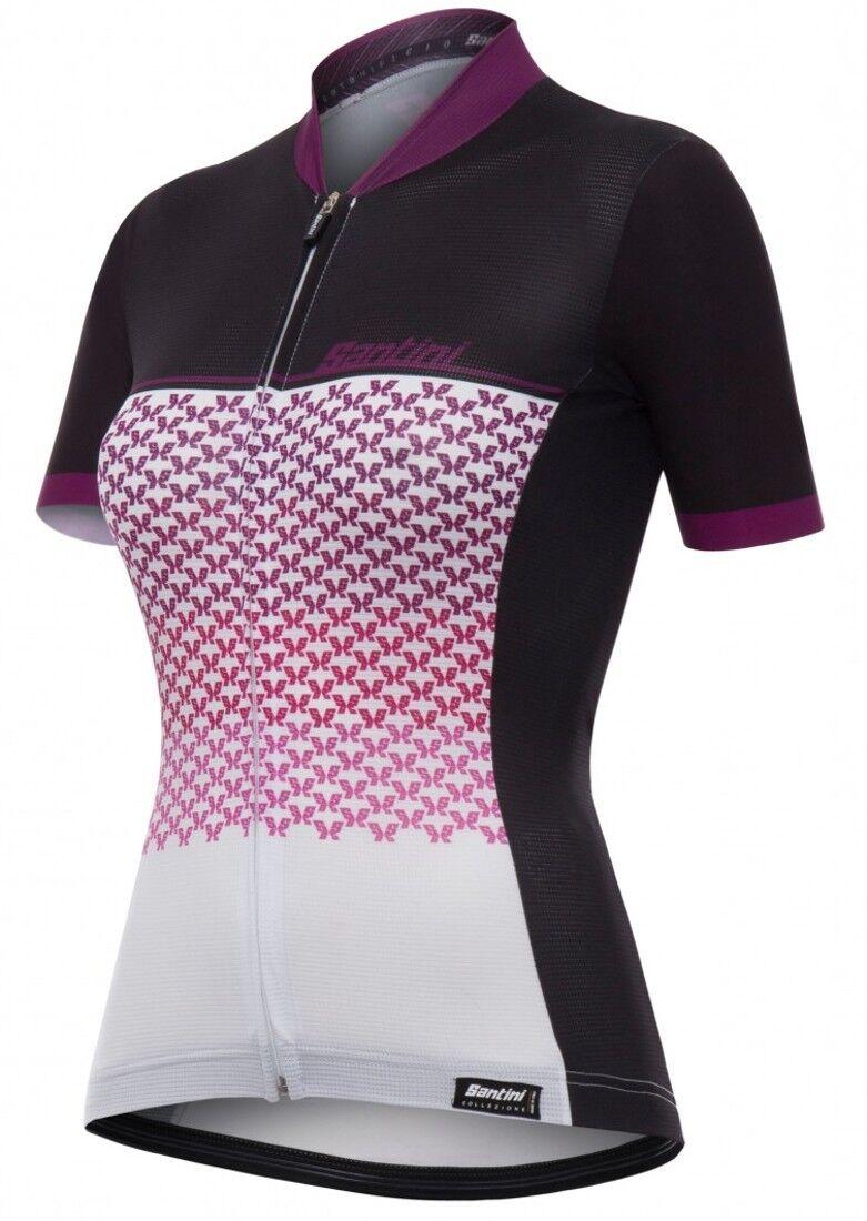 Women's Volo Cycling Jersey in purple by Santini.