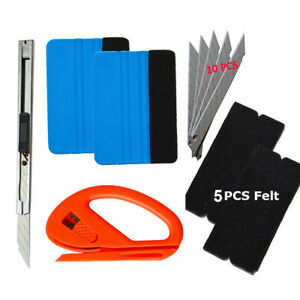 Car-Wrap-Vinyl-Tools-Kit-6-Film-Wrapping-Carbon-Fibre-Squeegee-Safety-Cutter-AUS