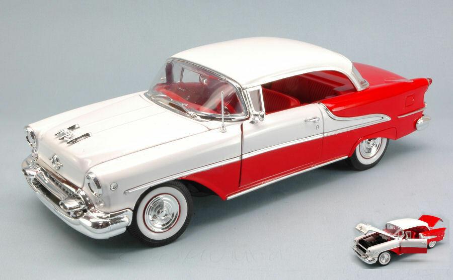 Oldsmobile Super 88 Hard Top 1955 bianca   rosso 1 18 Model 9869 WELLY