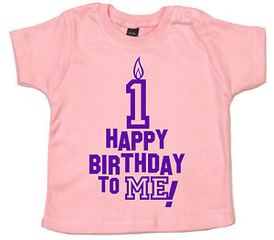 First Birthday T Shirt Happy Birthday To Me 1st 1 Year Old Party