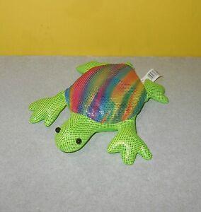 Sand Filled Stuffed Animals, 6 5 Ganz Metallic Rainbow Sand Filled Rainbow Turtle Sand Pet Stuffed Animal Ebay