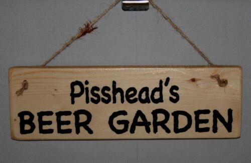 Rude Shed Sign Plaque Pisshead BEER GARDEN Man Cave Garage Bar Patio Deck Shop