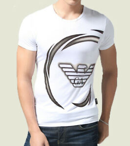 Neuf-blanc-Emporio-Armani-Homme-Tight-Fit-Muscle-T-Shirt-SZ-m-L-XL-4