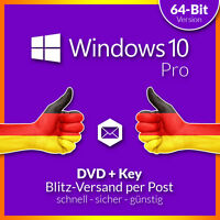 Microsoft Windows 10 Professional 64 Bit Dvd Und Lizenz - Deutsch