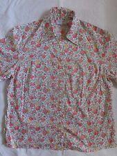 LIBERTY OF LONDON LADIES floral blouse / shirt SIZE 14 RARE PRINT