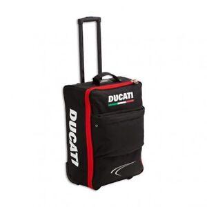 DUCATI-Corse-Handgepaeck-Trolley-Koffer-Reisetasche-Luggage-Bag-schwarz-rot-NEU