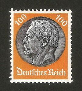DR-Nazi-3rd-Reich-Rare-WW2-Stamp-1933-Hindenburg-Medalion-MNH-528-Swastika-War