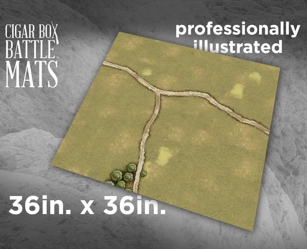 CBM115 - 3X3  - GRASSLANDS GAMING BATTLE MAT - CIGAR BOX BATTLE -SENT FIRST CLASS  avec le prix bon marché pour obtenir la meilleure marque