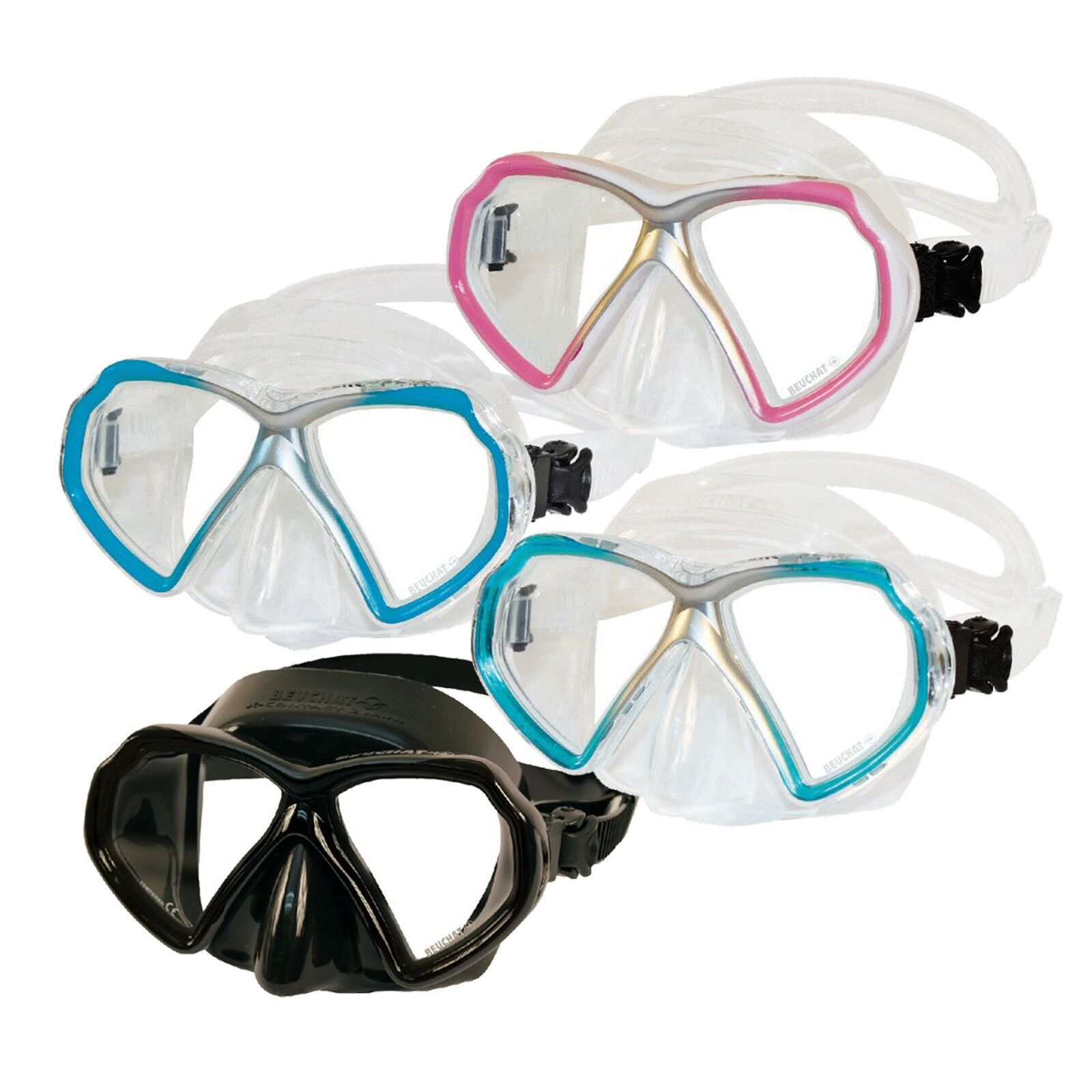 Beuchat X-Contact 2 Mini - 2glas Diving Mask