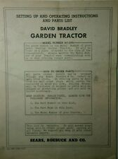 David Bradley 9175751 Garden Tractor Amp Cultivator Owner Amp Parts 2 Manual S Db