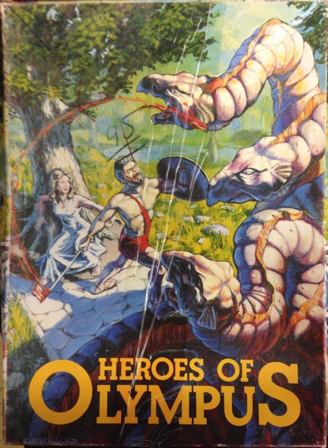 Heroes Of Olympus Task Force Games  2007 RARE Game Unpunched and Complete Game