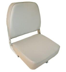 2X-Folding-Padded-Boat-Seats-Seat-Marine-Seating-Upholstered-Grey-Grey-Trim