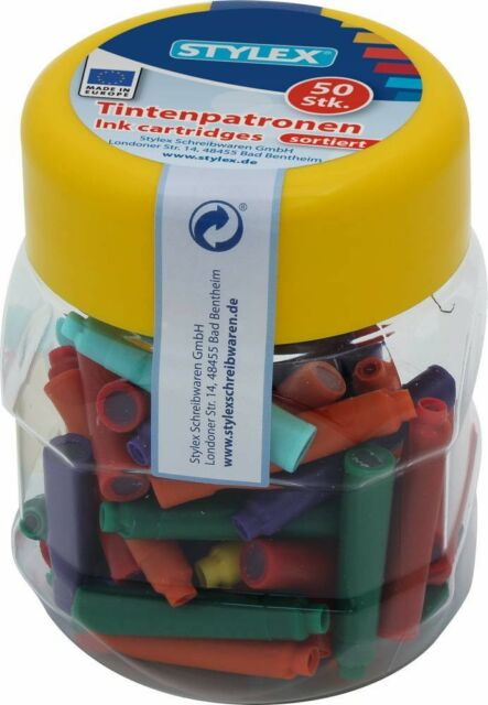 Stylex®  23016 Tintenpatronen 50 Stück PP-Box color