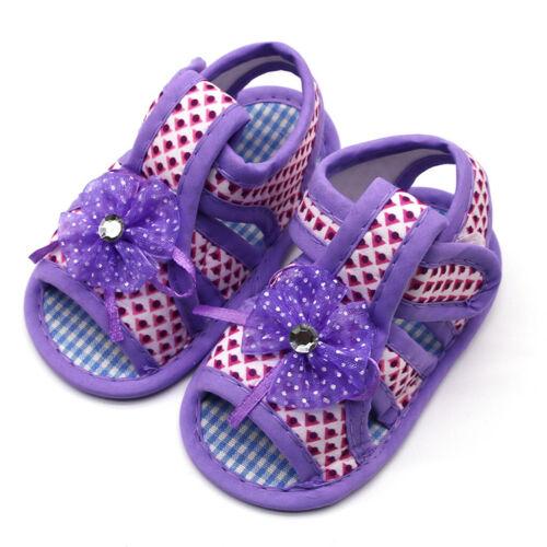 Toddler Infant Baby Girls Applique Prewalker Soft Sole Sandals Single Shoes