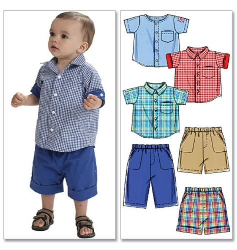 McCall/'s 6016 Sewing Pattern to MAKE Toddler Shorts /& Shirt 13-29 lbs//6-13.5 kg