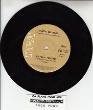 "PLASTIC BERTRAND  Ca Plane Pour Moi  7"" 45 rpm record + juke box title strip"
