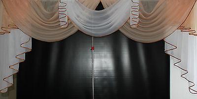 Deko - Gardine, Store, Vorhang in der Farbe apricot / weiss