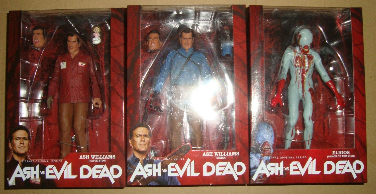 ASH VS EVIL DEAD FIGURE ASH HERO+ASH VALUE STOP+ELIGOS NECA 2016