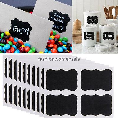 36x Chalkboard Blackboard Chalk Board Stickers Craft Kitchen Jar Labels 12x3 FE