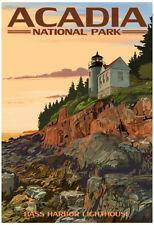 Acadia National Park, Maine - Bass Harbor Lighthouse Poster Print, 13x19