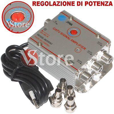 Amplifier Splitter 3 Outputs For Signal Digital Terrestrial Tv Antenna Ebay