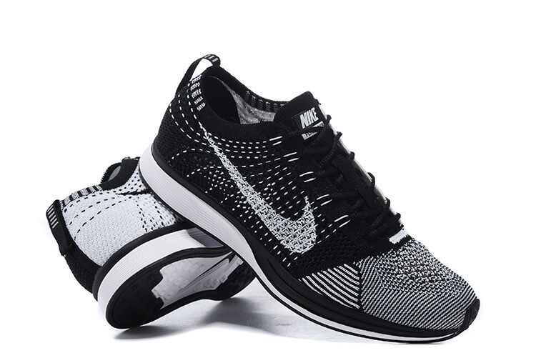 Nike Flyknit Racer Black and White - 526628 002 - Size 14