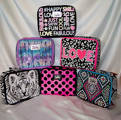 You Pick ~ JUSTICE Girls School GLITTER SQUIN LUNCH BOX Bag Tote Insultated~NWT