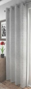 SHIMMERY-GLITTER-SPARKLES-SILVER-PALE-GREY-EYELET-THICK-VOILE-NET-CURTAIN-PANEL