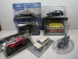 KAS10 LOT de 7 véhicules FIAT 1/43 Collection cassés broken model rotos