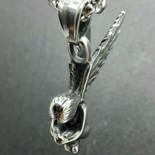 Ángel remolque angel ala de ángel acero inoxidable collar cadenas de plata colgante NUEVO