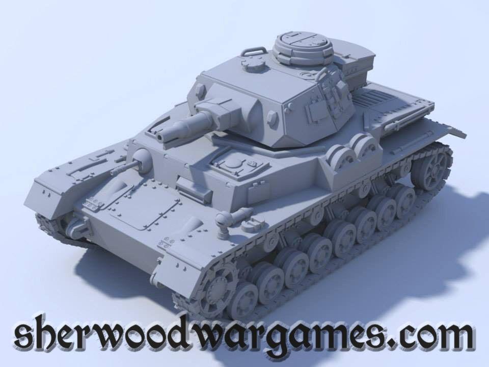 28mm 1 56 German Panzer IVF1 Blitzkrieg Miniatures WWII Bolt Action BNIB