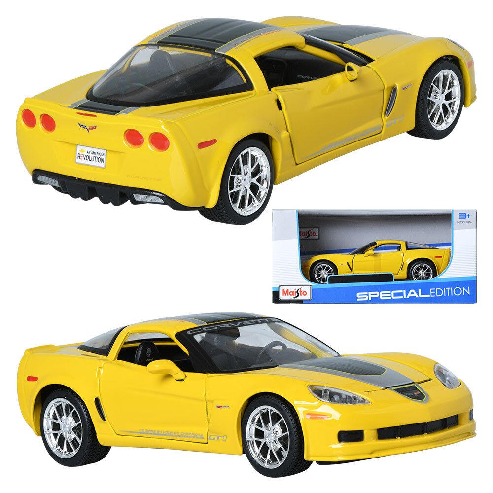 Maisto 1 24 Chevrolet Corvette Z06 GT1 Yellow Display Miniature Car