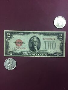 2-00-1928-Red-Seal-Walking-Liberty-Half-amp-Kennedy-Half-OLD-SILVER-COINS