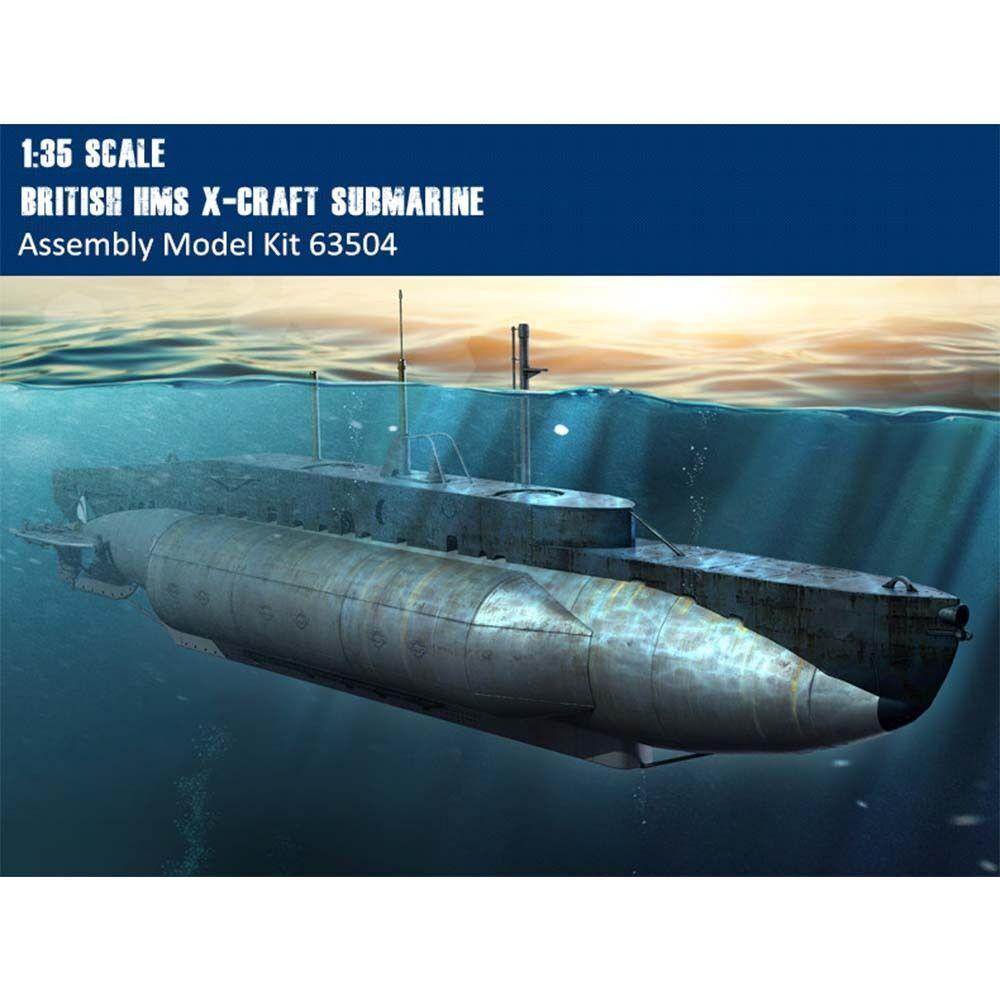 Merit 63504 1 35 Scale British HMS X-Craft Submarine Plastic Assembly Model Kits