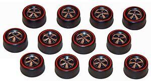 12 Brightvision Redline Wheels 12 Medium US Dull Chrome Bearing Style Wheels
