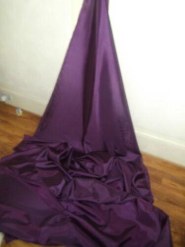 """1M FUSCIA PURPLE DRESS COLOURED  TAFFETA  FABRIC 58/"""" WIDE"""