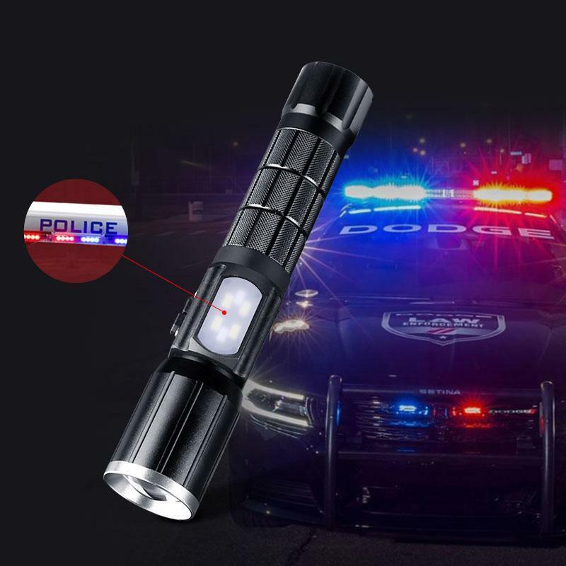 Tactical LED Flashlight Ultra Bright High Power Rechargeable 18650 Torch USB