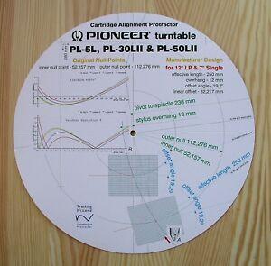 Pioneer-PL-5L-30LII-50LII-del-brazo-ALINEACIoN-PROTRACTOR-fabricante-Diseno