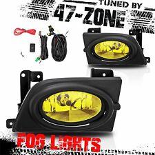 For 2006-2008 Honda Civic Sedan Yellow Lens Bumper Fog Light Lamp Pair Set